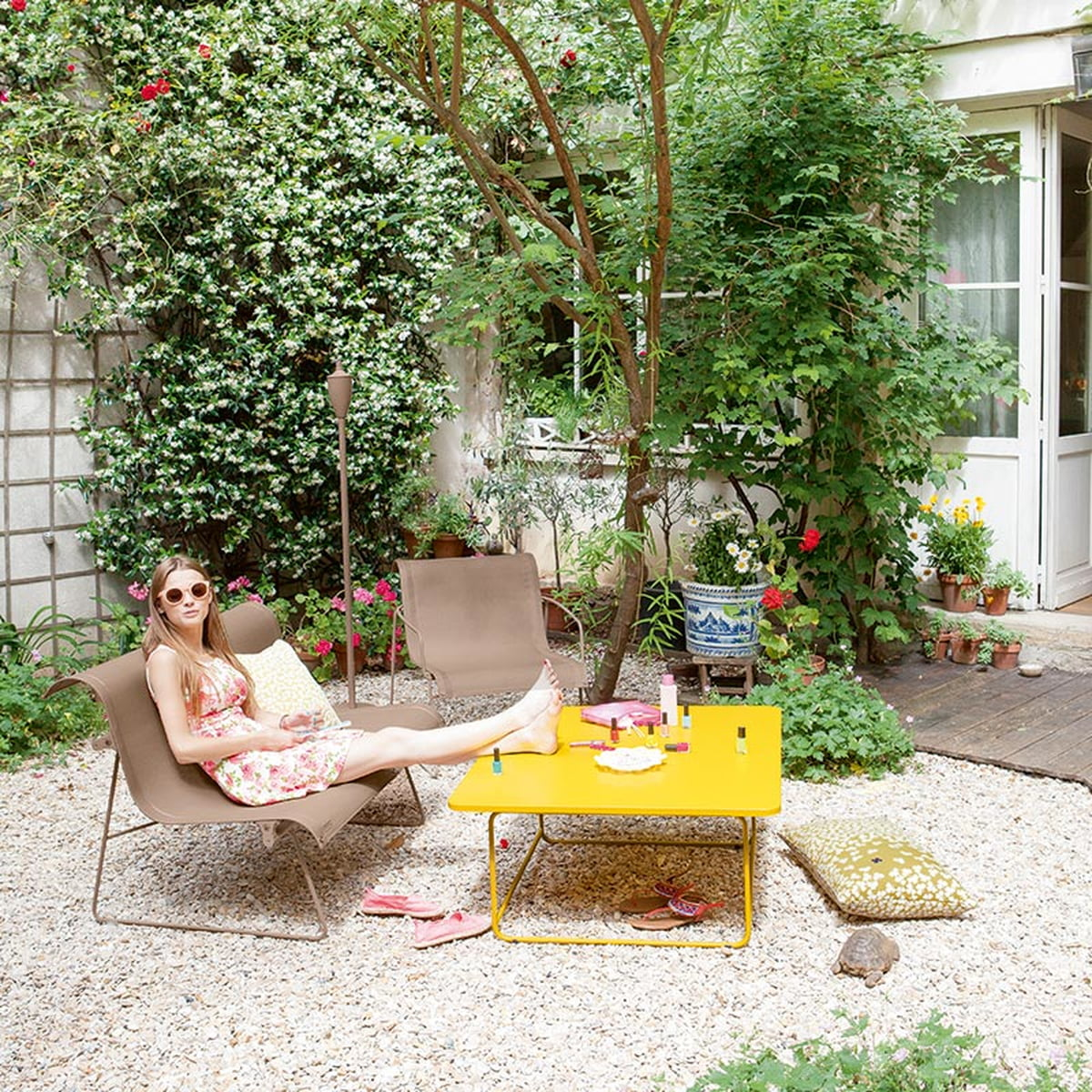 Ellipse Collection And Trèfle Outdoor Cushions From Fermob