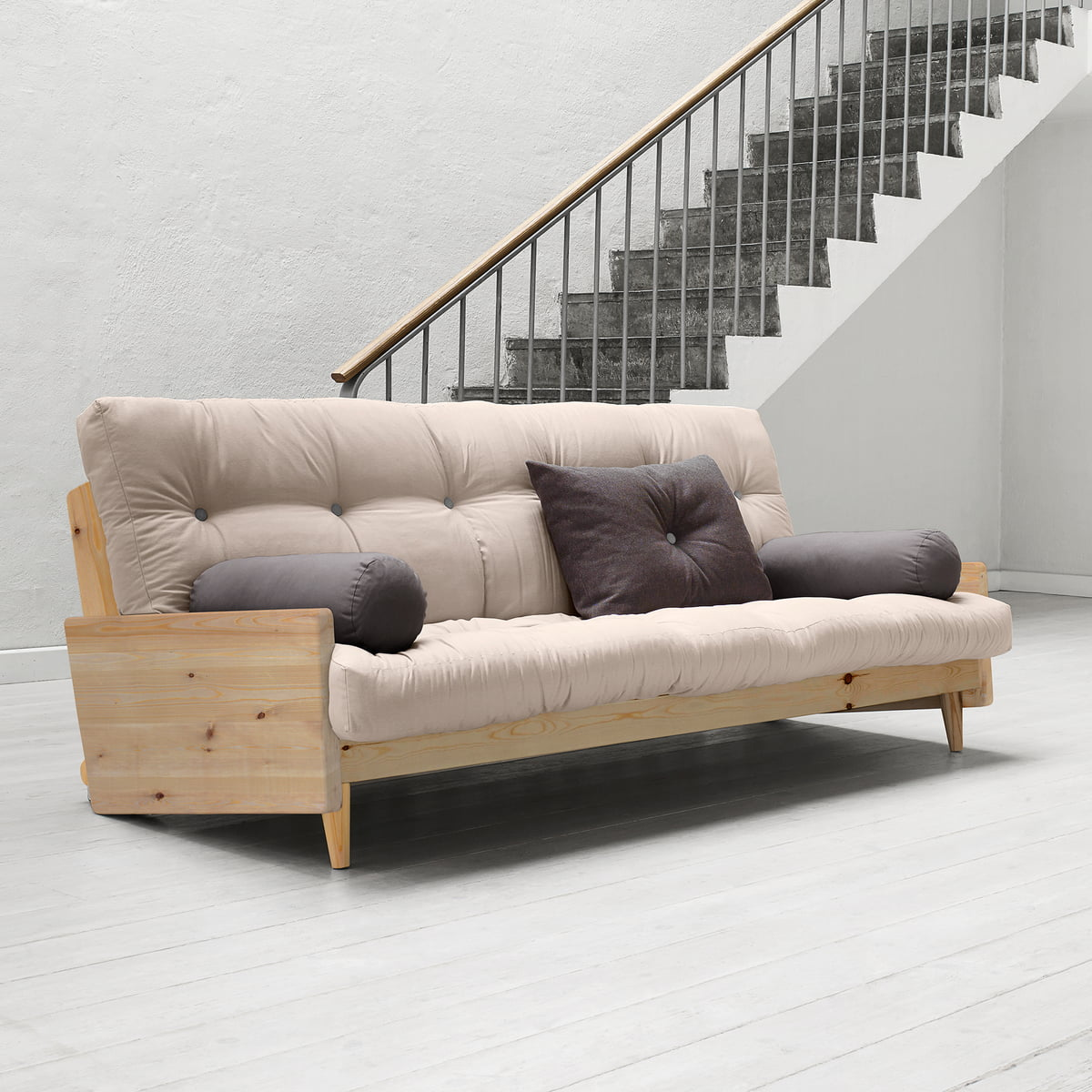 Groovy Karup Design Indie Sofa Bed Pine Natural Beige 747 Machost Co Dining Chair Design Ideas Machostcouk