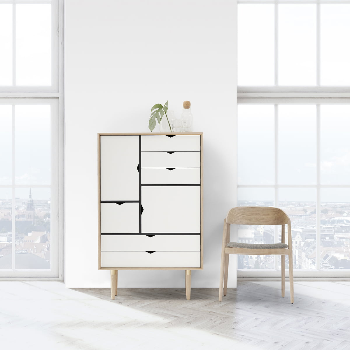 S5 Storage Unit unicoloured by Andersen Furniture