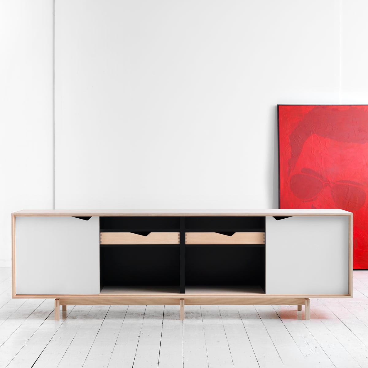 Weies Sideboard Cool Finn Juhl Diplomat Series Sideboard In  # Comprar Muebles Hulsta
