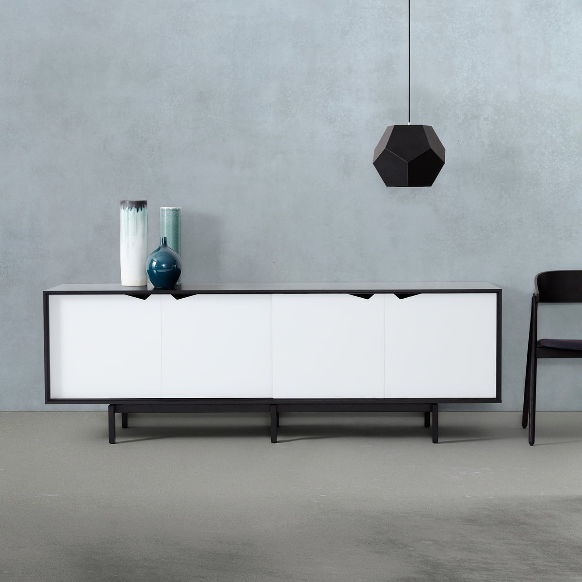 s1 sideboard unicoloured by andersen furniture. Black Bedroom Furniture Sets. Home Design Ideas