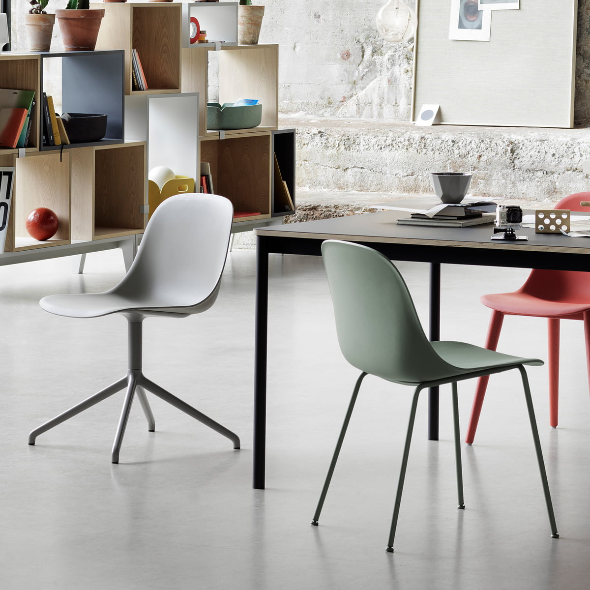 Fiber Chair by Muuto with Various Frames