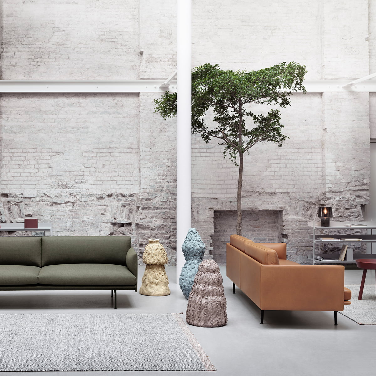 Sofa stoff  Outline Sofa 2-seater by Muuto in the shop