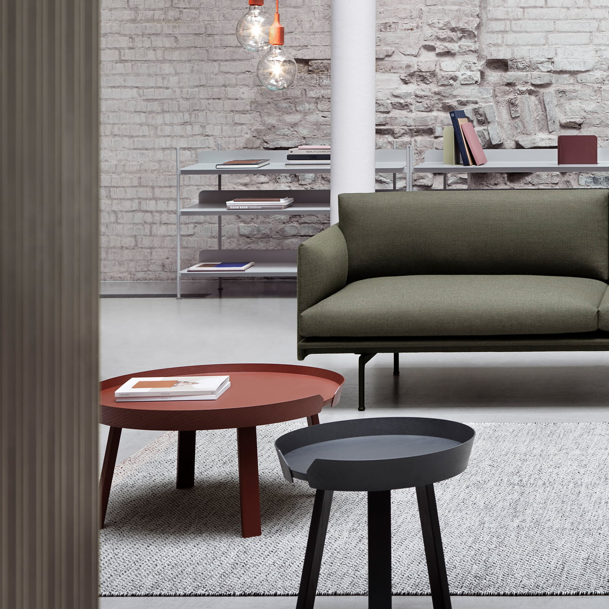 around coffee table muuto shop. Black Bedroom Furniture Sets. Home Design Ideas