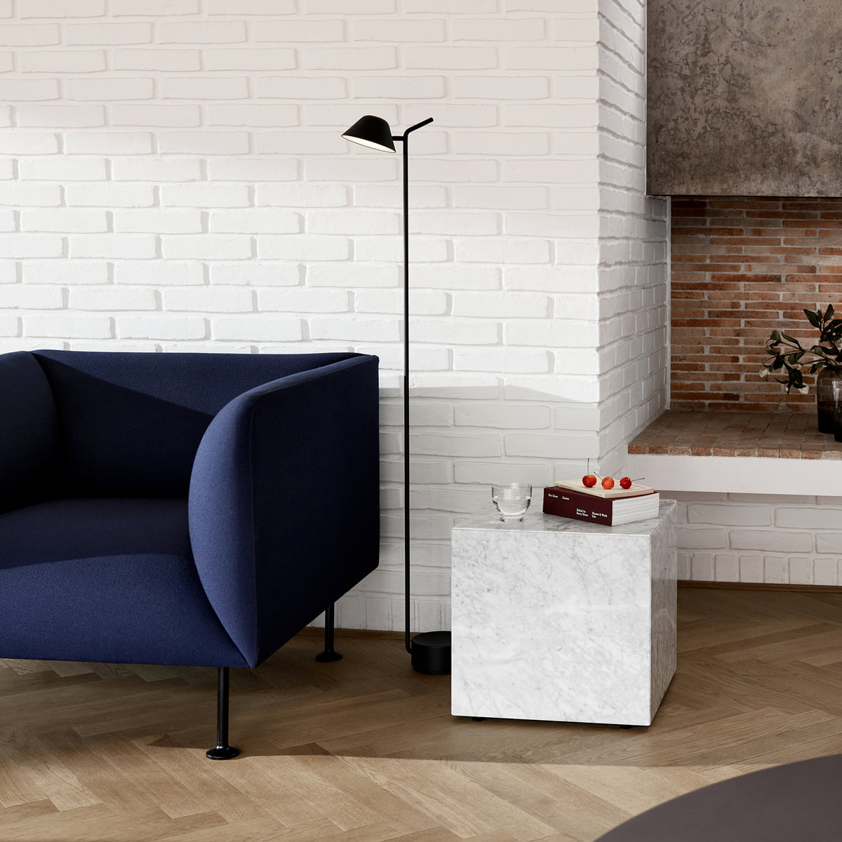 Plinth Side Table By Menu Connox Shop - Marble cube coffee table