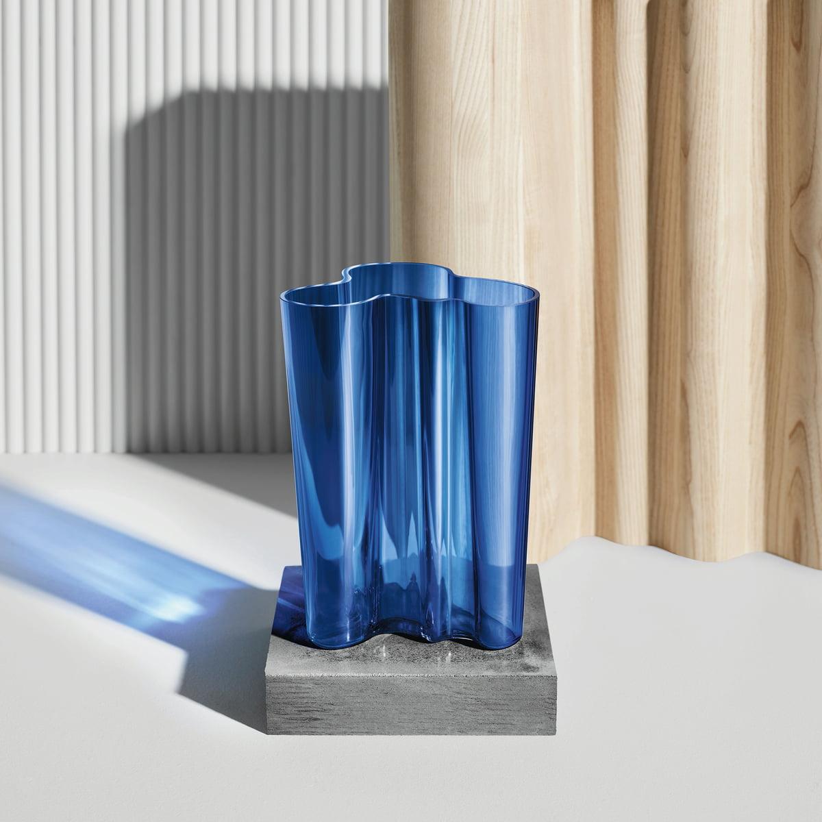 Aalto finlandia vase by iittala in the shop aalto vase finlandia by iittala in ultramarine blue reviewsmspy