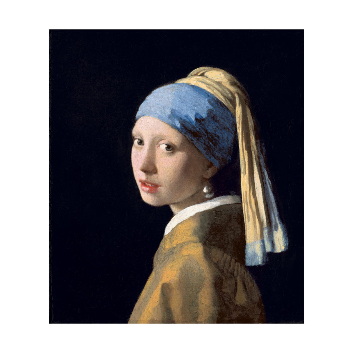Girl with a Pearl Earring (Vermeer) by IXXI