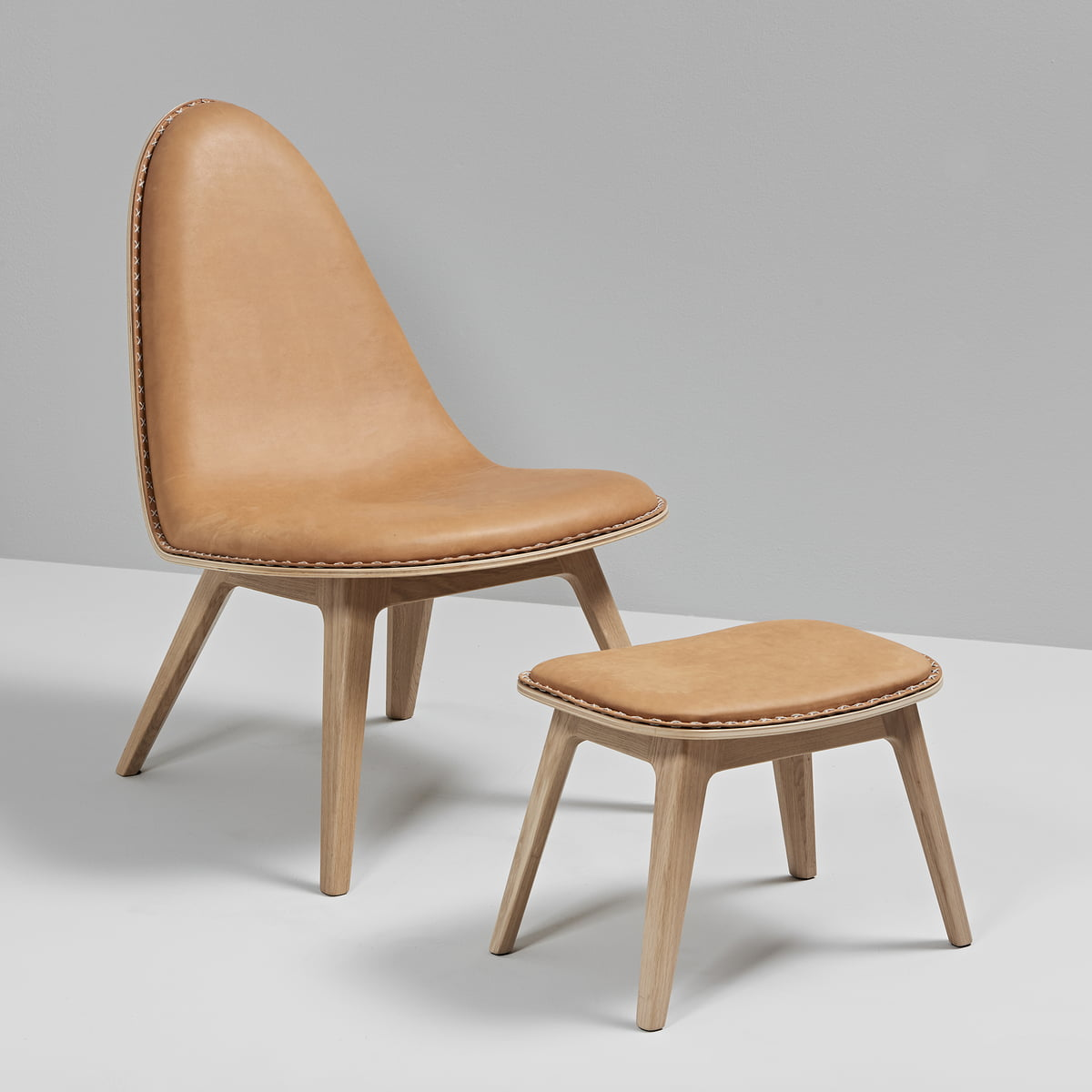 Nordic Lounge Chair With Foot Stool By Sack It