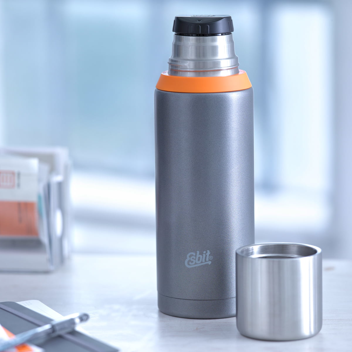 Stainless Steel Vacuum Flask By Esbit