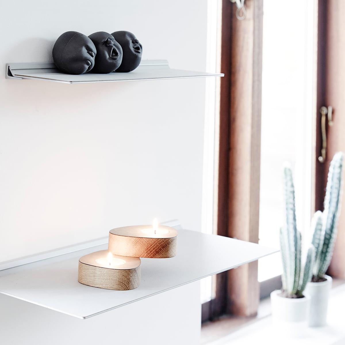 slim wall shelf by linddna connox. Black Bedroom Furniture Sets. Home Design Ideas
