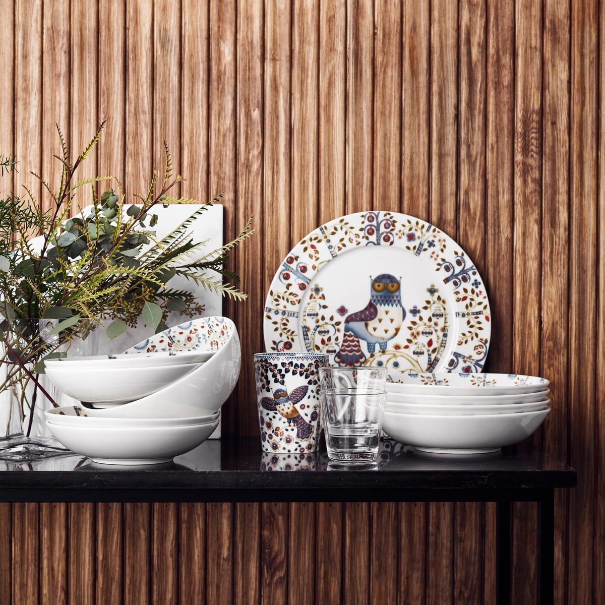 Anniversary Edition by Iittala in white & Taika Mug (Anniversary Edition) by Iittala