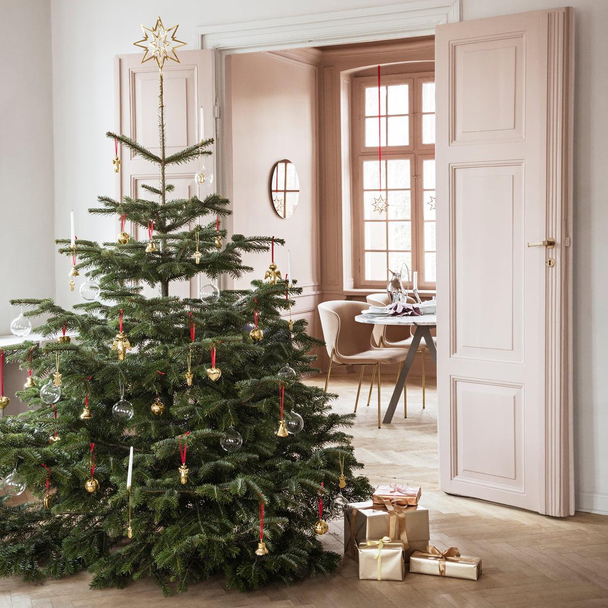 Christmas Tree Star.Georg Jensen Christmas Tree Top Star Gilded