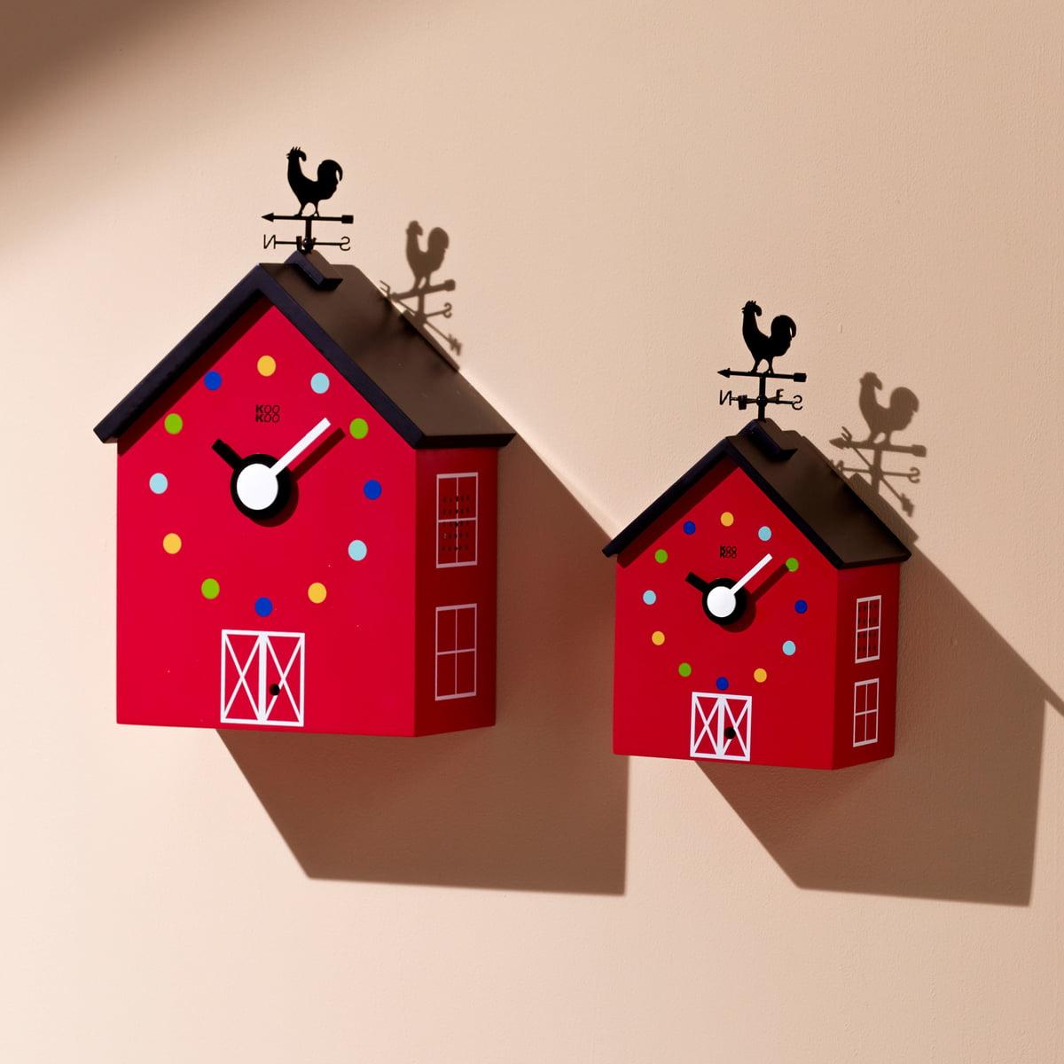 Buy The Redbarn Wall Clock By Kookoo Online