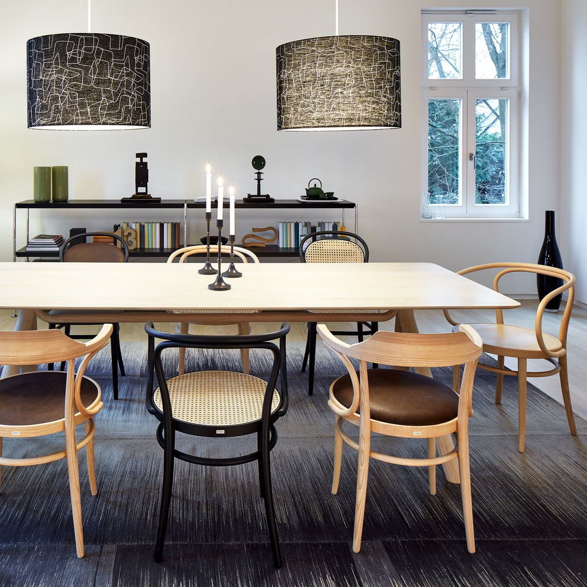 Classic Bentwood Chairs by Thonet & S 209 Chair with Armrests by Thonet   Connox