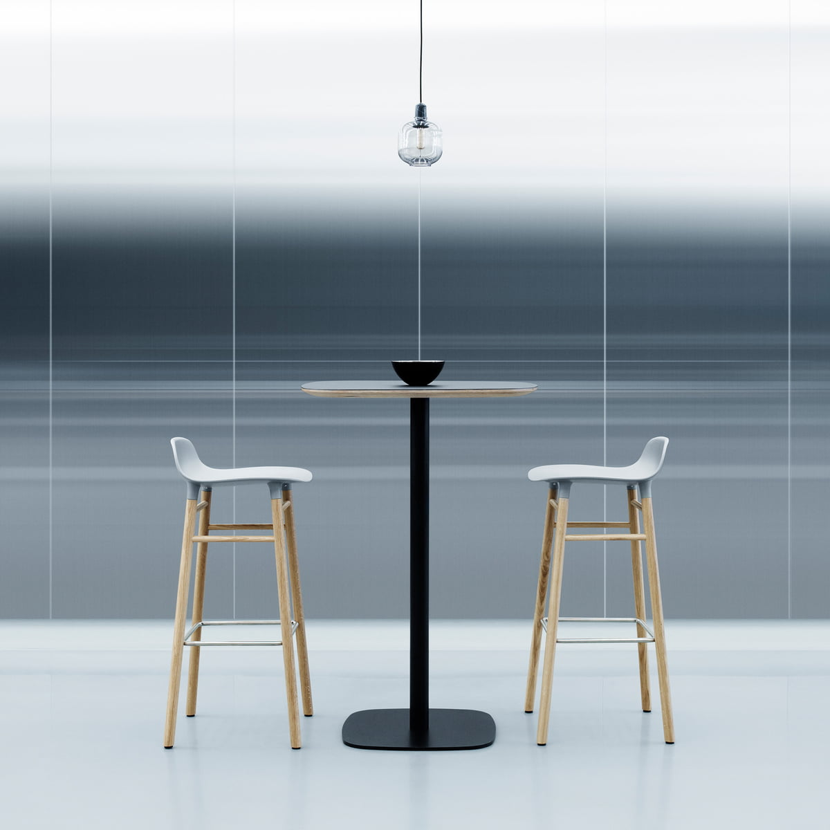 Form Bar Stool With Standing Table By Normann Copenhagen