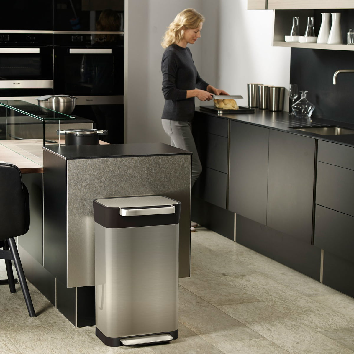 Elegant Stainless Steel Bin For The Kitchen