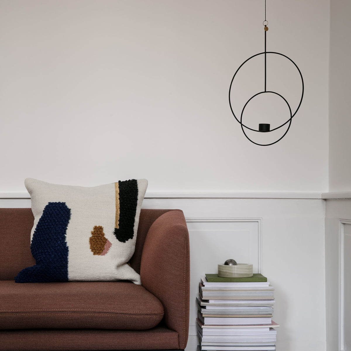 Round Tealight Holder With Loop Cushion By Ferm Living