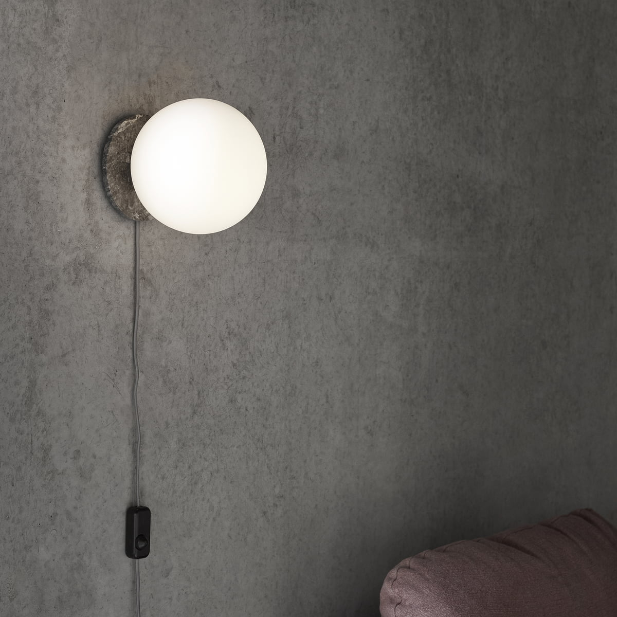 Tr wall and ceiling lamp by menu connox the menu tr table and wall lamp in marble grey aloadofball Gallery