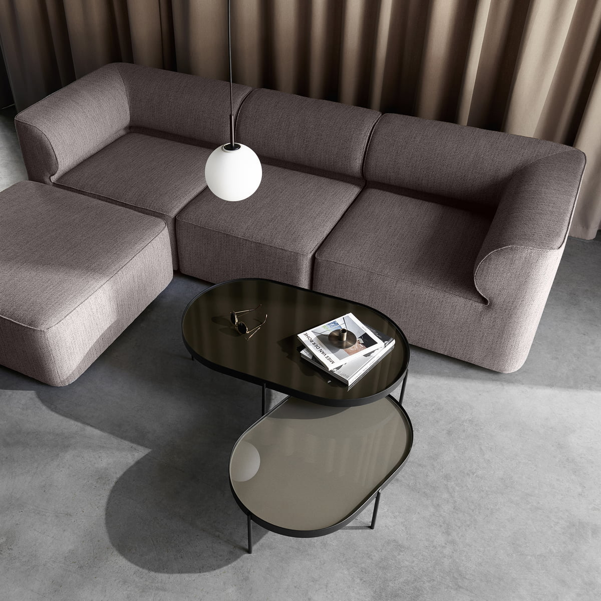 The Menu NoNo Coffee Table And The Eave Sofa Arranged As A Sitting Area