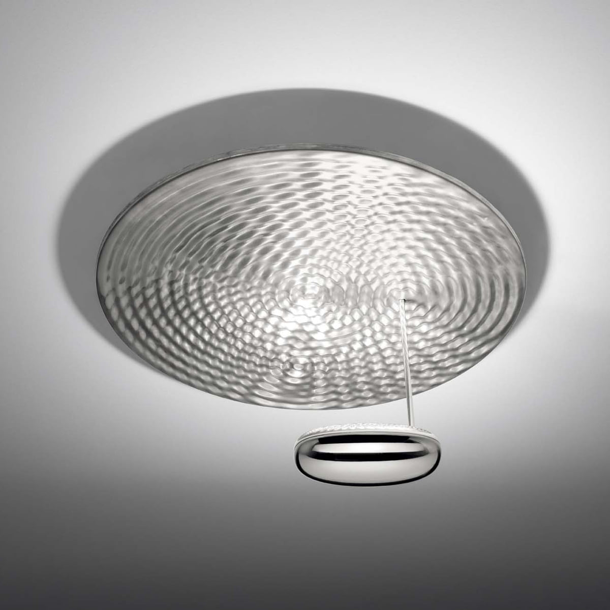 Soffitto A Led.Artemide Droplet Soffitto Led Ceiling Lamp Chrome Aluminium Grey