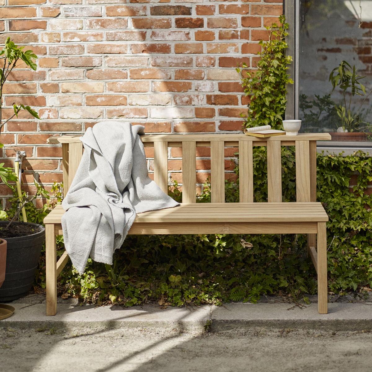 The Skagerak   Plank Bench 144 Cm, Teak In The Garden