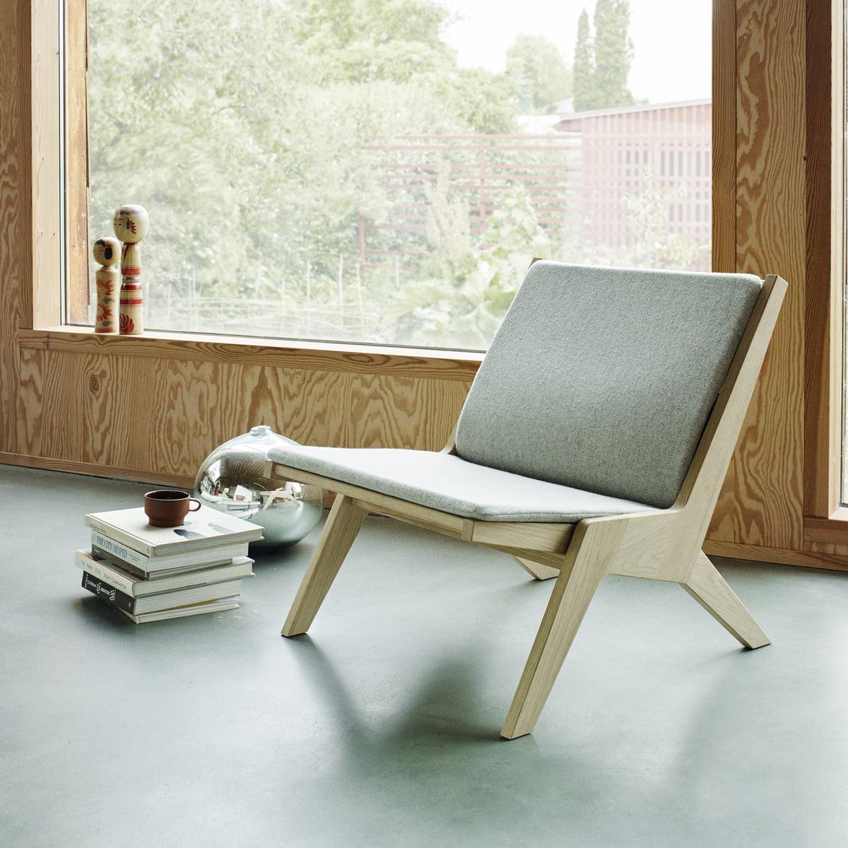 Miskito Lounge Chair by Skagerak in Oak / Light Grey & Miskito Lounge Chair by Skagerak in the shop