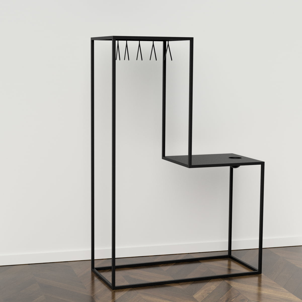 stand01 cothes rack by nichba design connox. Black Bedroom Furniture Sets. Home Design Ideas