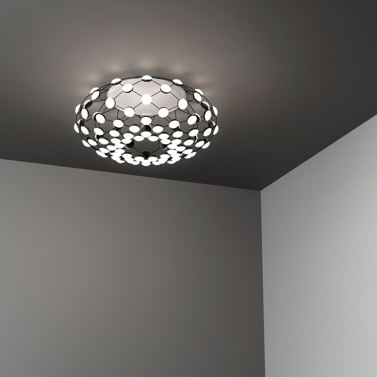 Luceplan Mesh Ceiling Lamp D86pl O 72 Cm Black