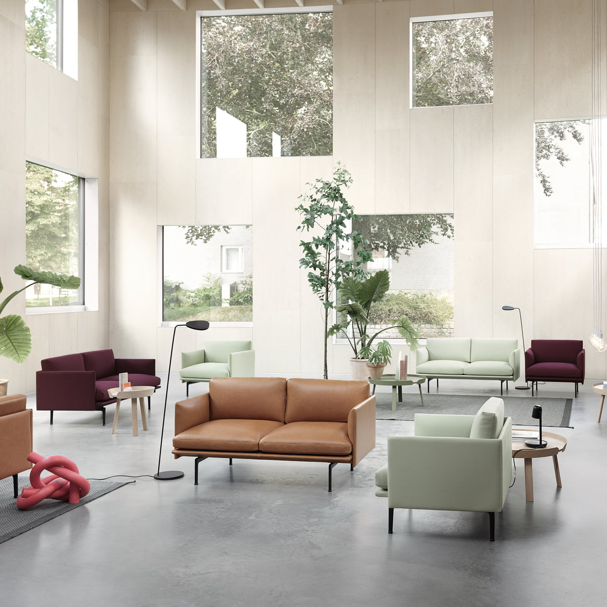 140 Cm Outline Sofa Studio Muuto Connox