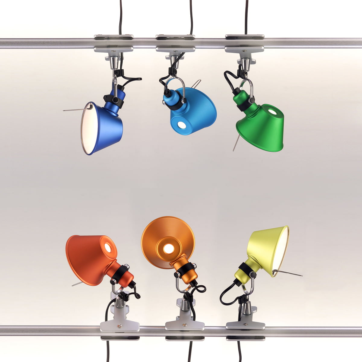 Tolomeo Pinza Clip On Led Light By Artemide