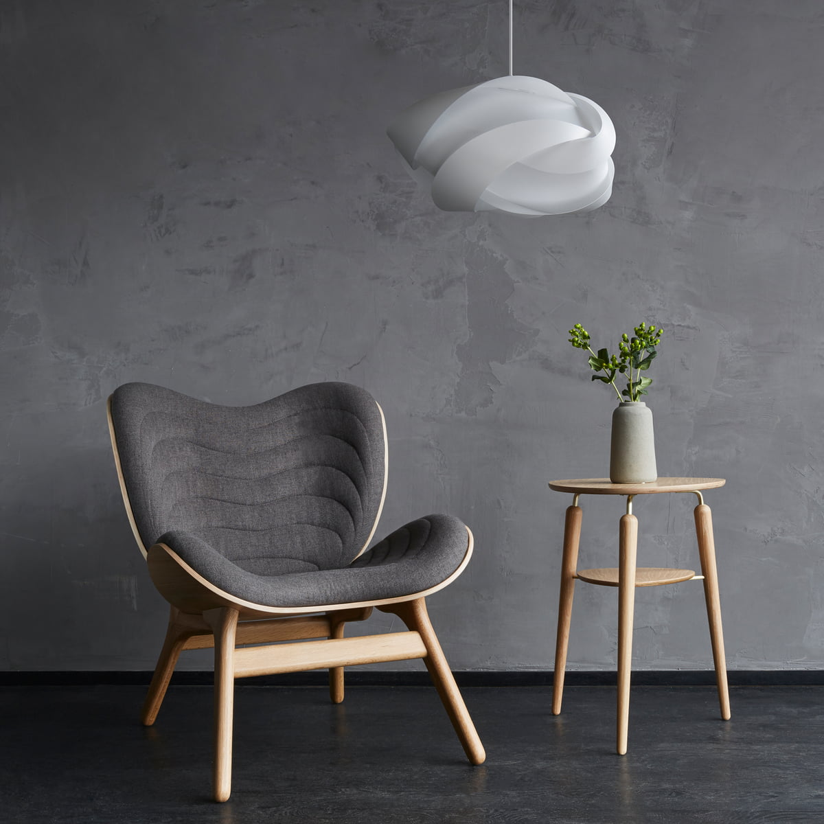 Ribbon lampshade by umage connox shop the umage ribbon pendant lamp with conversations armchair aloadofball