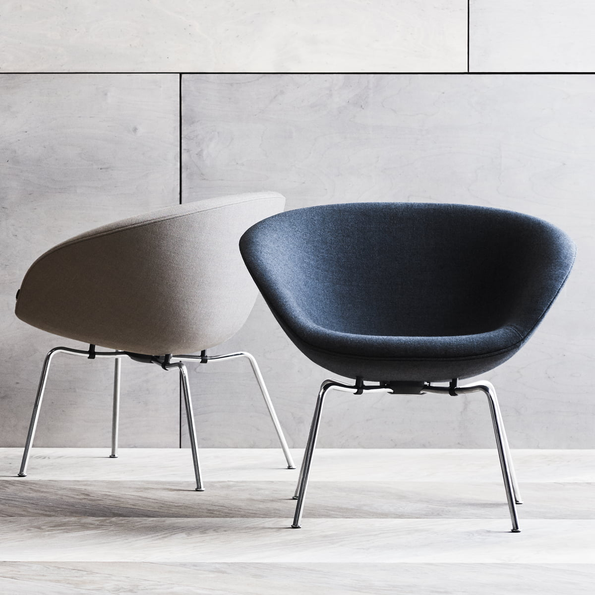 pot chair by fritz hansen connox. Black Bedroom Furniture Sets. Home Design Ideas