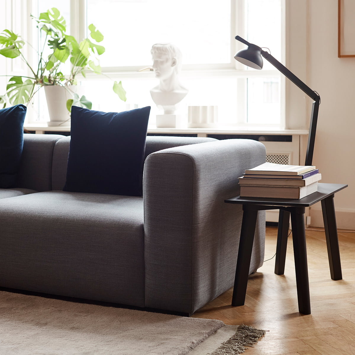 Hay - Mags Sofa, corner combination 2, left / grey (Hallingdal 116)