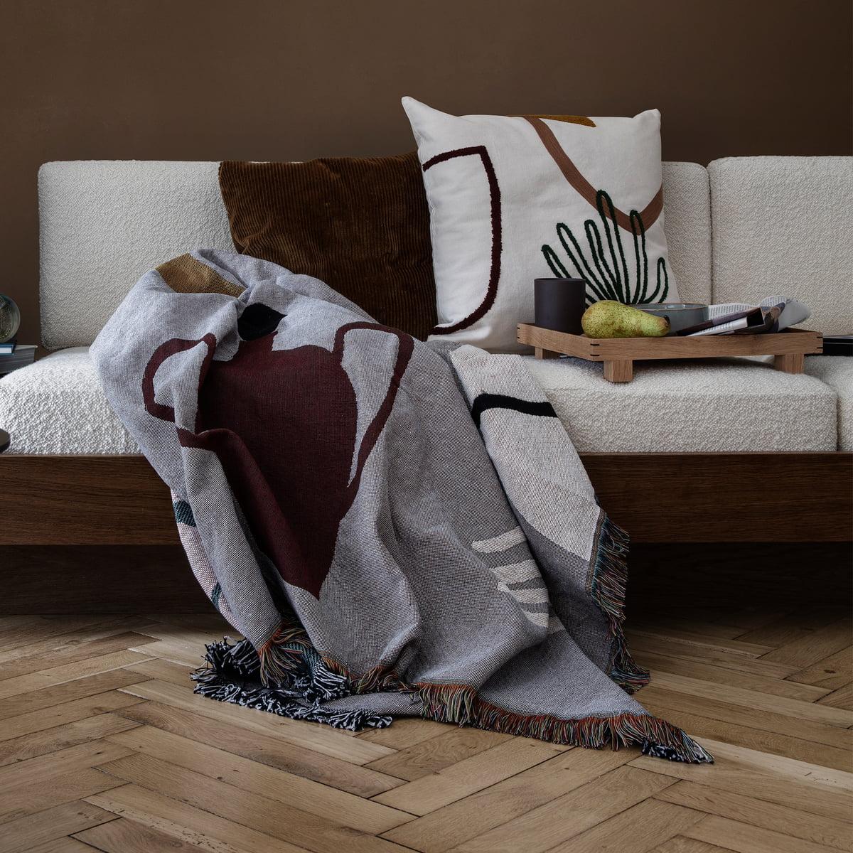 Ferm Living   Mirage Cushion 50 X 50 Cm, Leaf