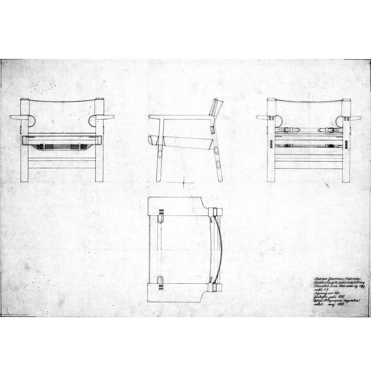 Fredericia - oak oiled spanish chair / leather cognac