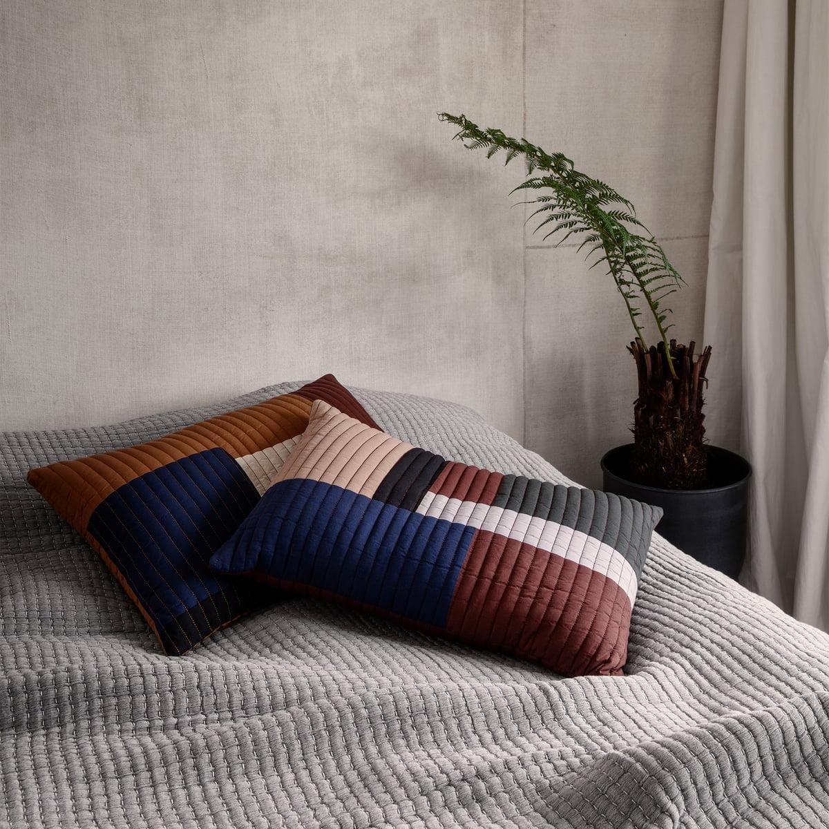 Ferm Living   Shay Quilt Cushion, 50 X 50 Cm, Mustard
