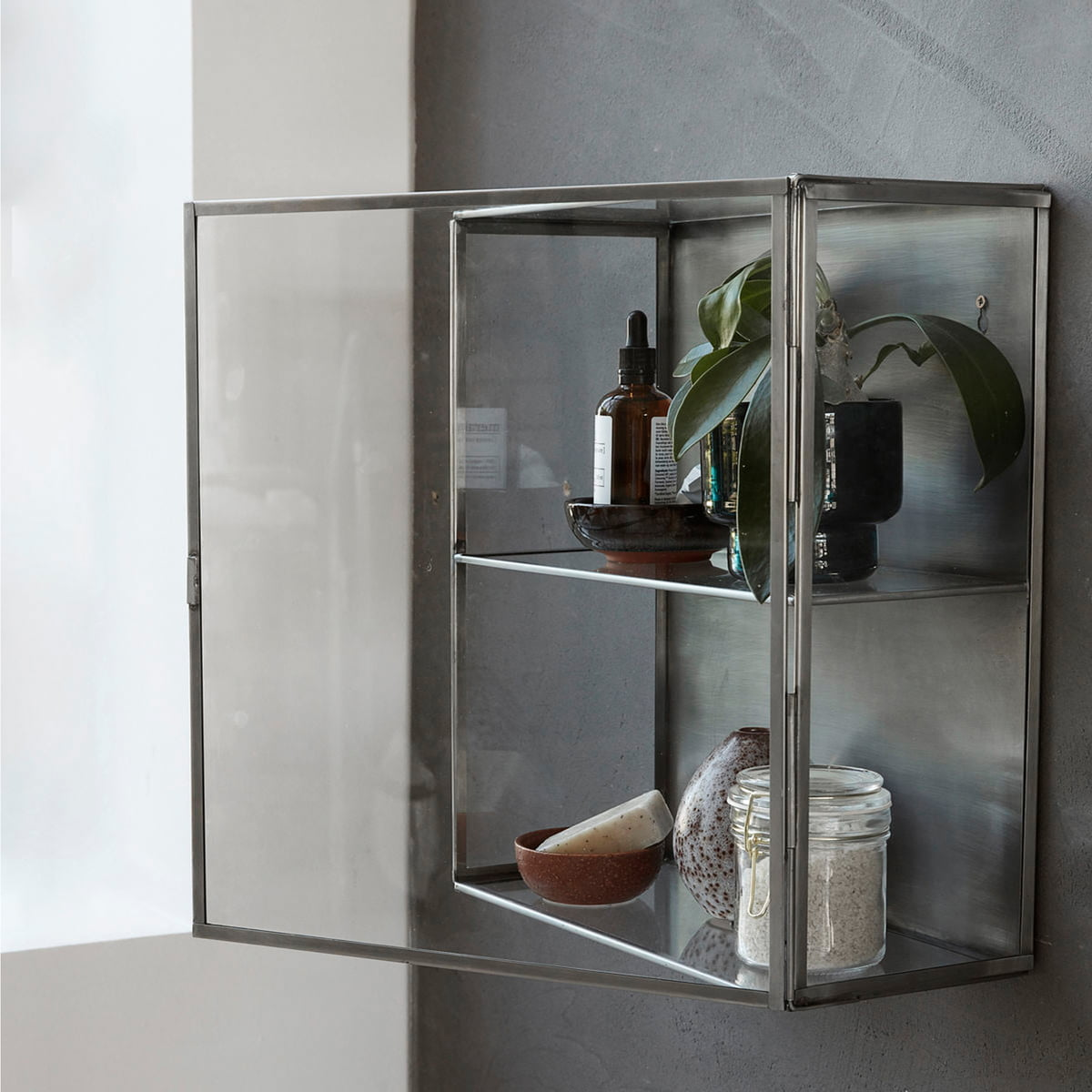 House Doctor Zinc Wall Cabinet Connox