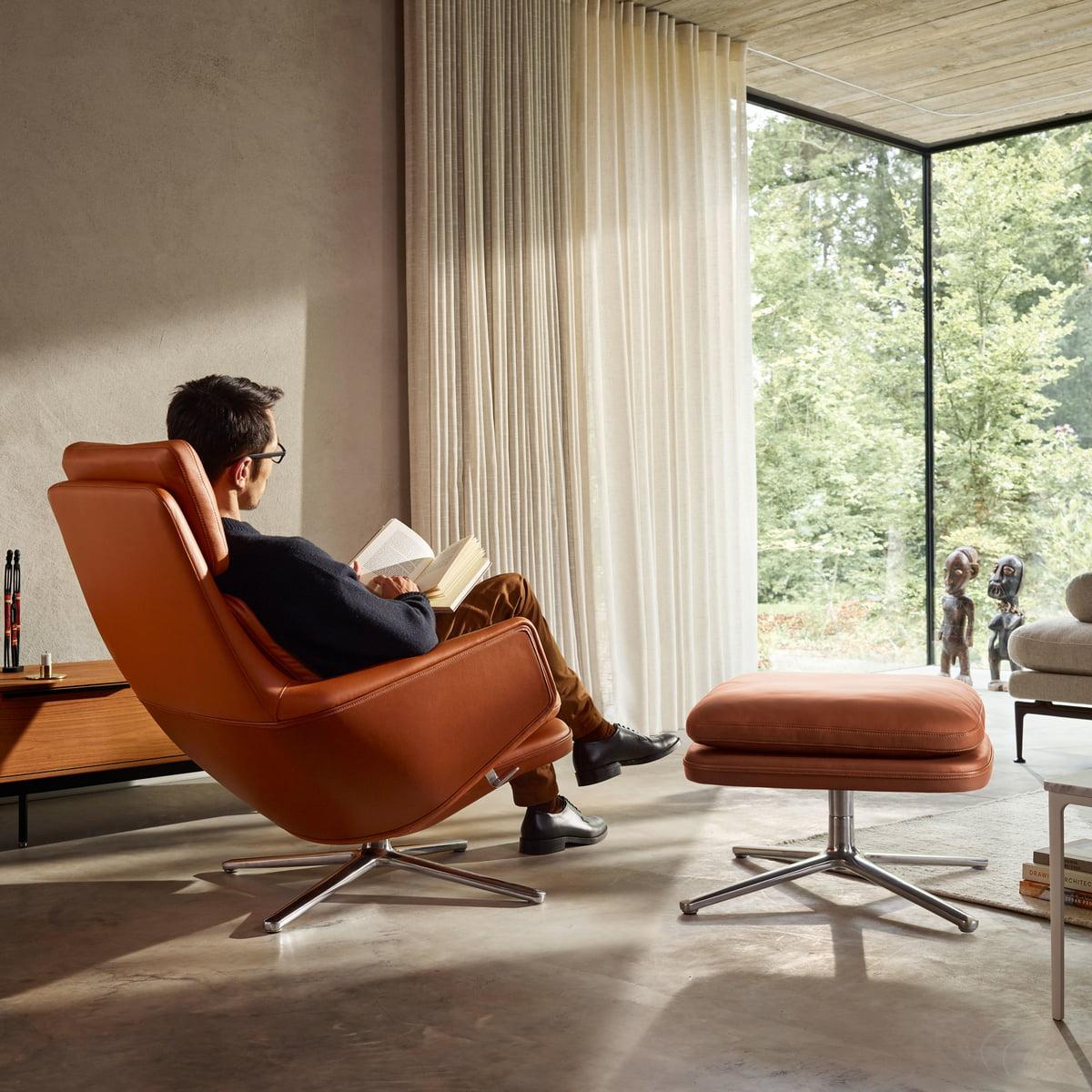Relax Fauteuil Design.Vitra Grand Relax Armchair Ottoman Connox