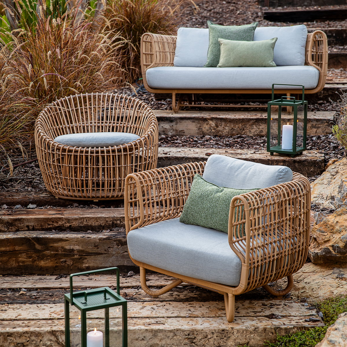 Cane Line Nest Lounge Chair Outdoor