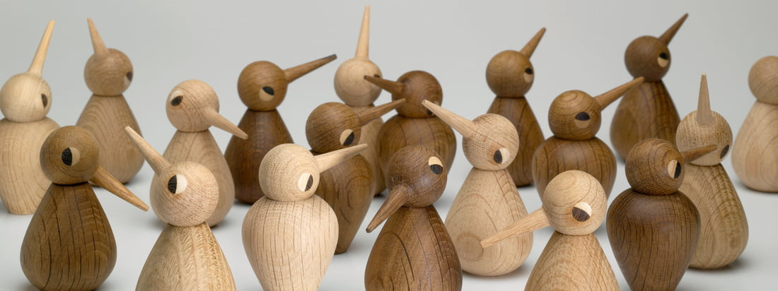 AchitectMade is amongst other things known for its wooden figures. The Birds, designed by Kristian Vedel, are available in different forms, sizes and wood tones.