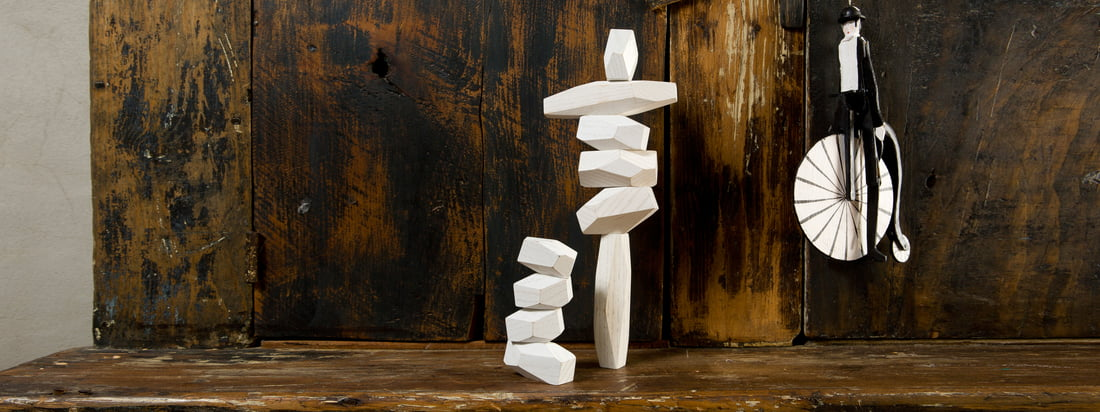 The Balancing Blocks from areaware are wooden blocks in different sizes. Kids and adults can create unusual sculptures, stacking the blocks any way they want to.