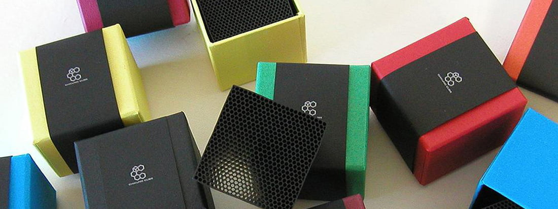 The Cube Air Freshener made by Chikuno comes from Japan. The black cube is composed of bamboo charcoal and cleans the air without spreading an unpleasant smell.