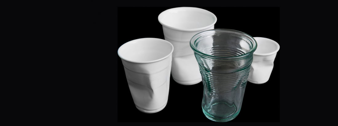 Details is a german design company from Cologne. The Crinkled Glass and the Crushed Cup amaze with its unusual design, inspired by crinkled up drinking cups.