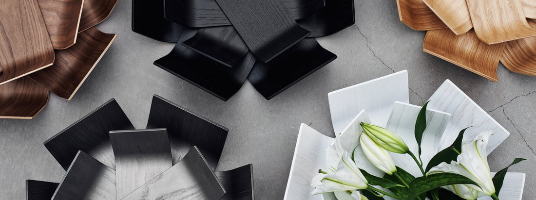 BeDesign is a Finnish design company. The Lily Bowl in white, black or brown is reminiscent of a blooming flower. This special, beautiful bowl is made of wood.