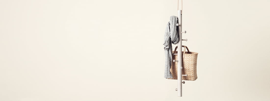 Copenhanger is a design studio from denmark. The floating Hanging Coat Rack is made of wood and provides space for scarfs, bags and other accessories.