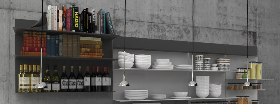 UNU impresses with its sleek and stylish appearance with shelves, such as hat - and mirror shelves, mirrors, a shelving system and other useful accessories. UNU enthuses with a classically elegant look that allows versatile combination possibilities.