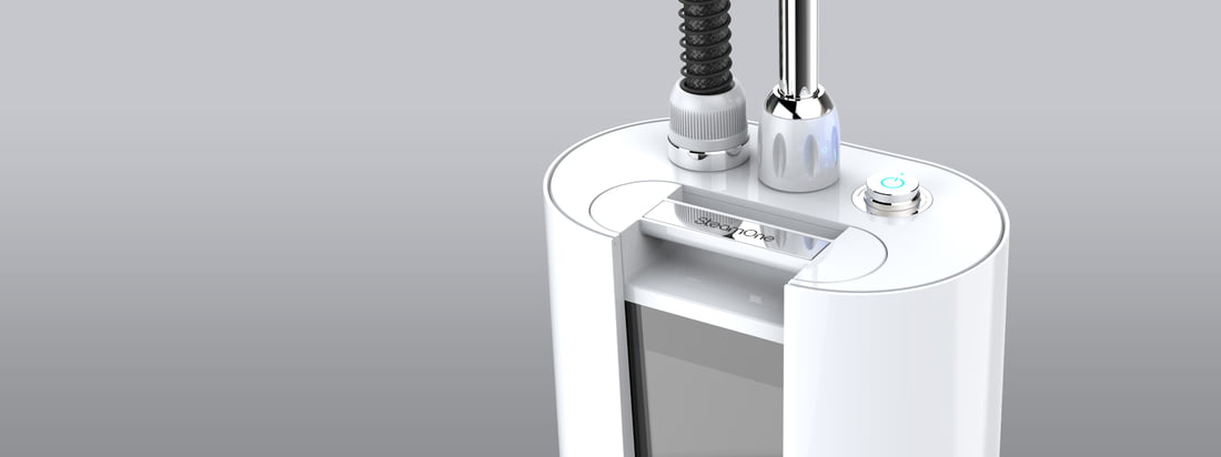 SteamOne produces Garment Steamers for clothes and other fabrics. The steamers are convincing beside the function by hiqh quality optics. Inter alia in white available.
