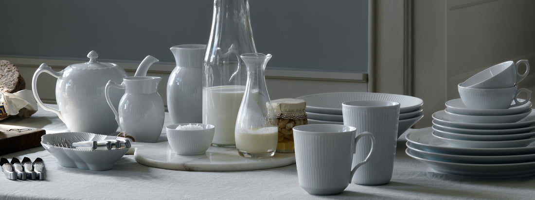 Royal Copenhagen - White Ribbed