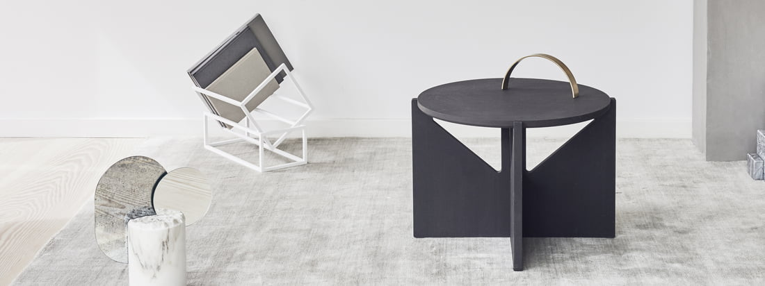 Whether for the bedside lamp, the coffee table books or as a shelf for the remote control, the table can be used in many ways and fits with its modern shape to any environment.