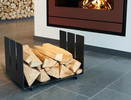 Fireplace accessories: firewood storage, fire irons, wood storage